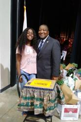 BCU student Thanksgiving donation